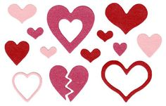 Lifestyle Crafts - Die Cutting Template - Hearts at Scrapbook.com $12.99