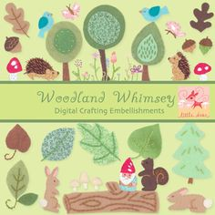 Woodland Whimsey Digital Scrapbooking Elements