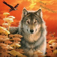 Wolf - glitter gif - animated image