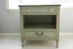 This finish for my media cabinet? Cameras and Chaos: the happy little nightstand has a big sister now