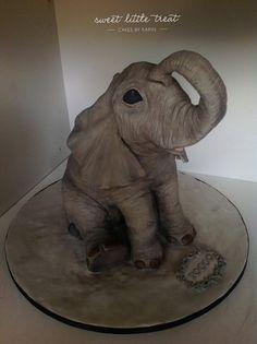 Baby Elephant 3D Cake Tutorial by OperationSugarLtd on Etsy, $10.00