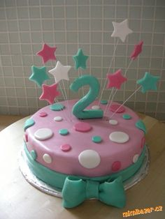 Jednoduchý dort k narozeninám Kids Birthday Snacks, Party Snacks, Birthday Parties, Birthday Cake, Pretty Cakes, Cute Cakes, Cake Cookies, Cake Decorating, Artworks