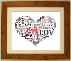 Personalised Heart Shaped En Ement Word Art Gift By Artyalphabet Love Words Pinterest Word Art Anniversaries And Anniversary Words