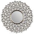 Chic Satin Nickel Round Mirror | Overstock.com Shopping - The Best Deals on Mirrors