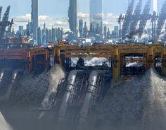 ArtStation - Yellow city -Ragequit test01, Paul Chadeisson