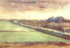 Vincent van Gogh — Meadows near Rijswijk and the Schenkweg, 1882,...