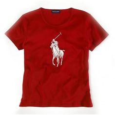 Ralph Lauren Classic Polo Red Leisure Short Sleeved Pony Women http://www.ralph-laurenoutlet.com/