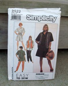 1989 Uncut Simplicity Pattern 9522 Misses' by lovelylovepatterns, $3.50