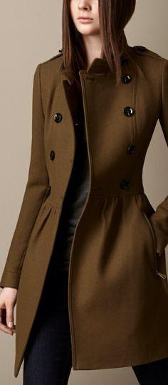 c04935d7ed dark brown wool coat outfit women - Google Search Fashion Mode