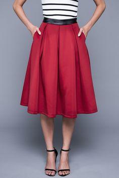 Madison Midi Skirt - The Bold