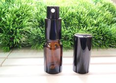 Amber Brown Glass Spray Bottles, tall Bottles with Spray Pump & Black Cap, Travel Size Glass Spray Bottle Essential Oil Spray, Essential Oil Bottles, Amber Glass Bottles, Glass Spray Bottle, Travel Size Products, Diy Products, Young Living Essential Oils, Black Pumps, Health And Beauty