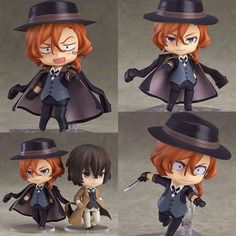 From the anime series Bungo Stray Dogs comes a Nendoroid of Chuya Nakahara one of the executives of the Port Mafia that have strong control over the ports! He comes with three face plates including his standard expression a belligerent combat expression as well as a humiliated angry expression. The long black coat he wears over his shoulders as well as his hat can both be removed for different posing options. Optional parts include his knife to place him in poses that show him off as the…