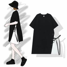 Sewing Simple Dresses Style 57 New Ideas Korea Fashion, Asian Fashion, Look Fashion, Hijab Fashion, Girl Fashion, Fashion Dresses, Womens Fashion, Cheap Fashion, Modele Hijab