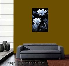 Lotus flower decor is more popular and ever! Understandably so as the lotus flower symbolizes purity of body, heart and soul. Additionally it means detachment to outcome as you will see water drops slide easily from its petals.    Japanese Zen Garden Lotus Flower Photo Black and White Photography Wall Decor