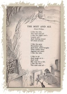 I like the fall Yhe mist and all Pomes, Kids Poems, Tim Burton, Poetry Quotes, Nursery Rhymes, Fall Halloween, Vintage Halloween, Beautiful Words, Mists