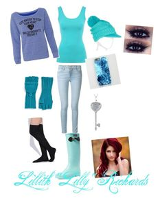 """""""Until dawn.  Lilly"""" by lilly-n-hood-sos on Polyvore featuring Jane Norman, Frame Denim, Aigle, Echo and Mixit"""