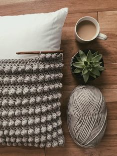 We love a good bobble stitch! How mesmerizing is this by 💕What's one of your fave crochet stitches? Crochet Home, Diy Crochet, Crochet Crafts, Yarn Crafts, Sewing Crafts, Crochet Pillow Pattern, Crochet Cushions, Crochet Stitches, Knitting Projects