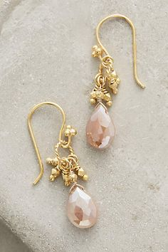 Peach Moonstone Drops - anthropologie.com