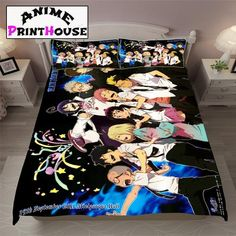 Blue Exorcist Bed Set, Sheets, Blanket & Pillow #blue #exorcist  #bedding #bed #bedroom #bed #set #anime #sheets #blanket #cover #ao #no www.animeprinthouse.com