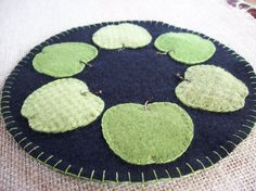 Hey, I found this really awesome Etsy listing at https://www.etsy.com/listing/182394588/green-apple-candle-mat