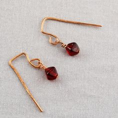 Dark Red & Copper Earrings   SER152