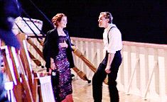 "ihearttitanic: """" Leonardo DiCaprio being a giant dork on the set of Titanic "" "" Titanic Movie, Rms Titanic, Movie Tv, Titanic Behind The Scenes, Ganhadores Do Oscar, Leo And Kate, Jack Dawson, Young Leonardo Dicaprio, Hollywood"
