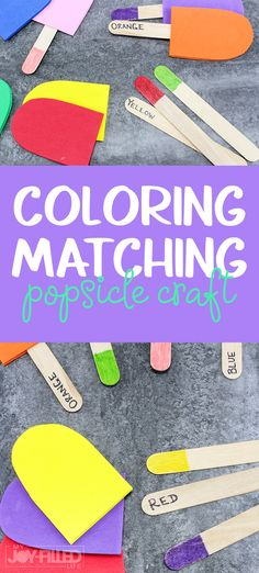 This color matching popsicle craft makes a great busy bag, is the perfect summer boredom buster for little ones, and helps teach color recognition. Educational Activities For Toddlers, Summer Activities For Kids, Motor Activities, Hands On Activities, Preschool Activities, Preschool At Home, Preschool Learning, Toddler Preschool, Toddler Play
