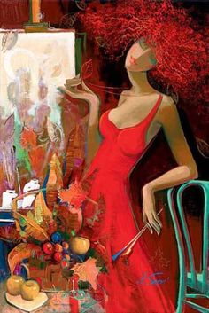 Maher Art Gallery: Irene Sheri 1968 | French/bulgarian painter