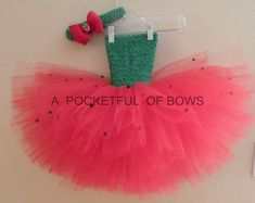 Strawberry Tutu Dress Berry Strawberry Costume by APocketfulofBows Princess Tutu Dresses, Baby Tutu Dresses, Baby Dress, Birthday Tutu, Birthday Dresses, Strawberry Costume, Toddler Tutu, Watermelon Birthday, Tutu Costumes