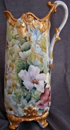 Celee Evans~Hand painted~Porcelain pitcher