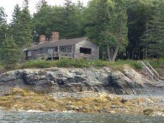 The Cabin. Off Island. Sleeps 7 Around 1400. Cute Rustic inside & On shore