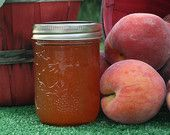 Perfectly Peach Preserves 8 oz Jam Jelly Homemade Half Pint - pinned by pin4etsy.com