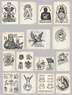 Russian Prison Tattoos, From the Russian Criminal Tattoo Encyclopedia http://fuel-design.com/russian-criminal-tattoo-archive/books/