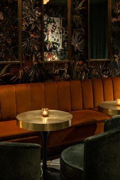 Bistro Interior, Bar Interior Design, Restaurant Interior Design, Cafe Interior, Cafe Design, Deco Restaurant, Restaurant Lounge, Bar Lounge, Restaurant Banquette