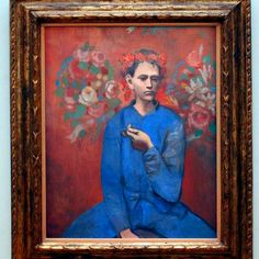"""Picasso's """"Garçon à la pipe"""" from his rose period. Picasso Rose Period, Most Expensive Painting, Picasso Paintings, Edvard Munch, Pablo Picasso, Art Market, Monet, Iphone, Art Museum"""