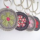 fabric birdy key ring by honeypips | notonthehighstreet.com