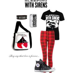 Sleeping with sirens Clothes  Outift for • teens • movies • girls • women •. summer • fall • spring • winter • outfit ideas • dates • parties Polyvore :) Catalina Christiano