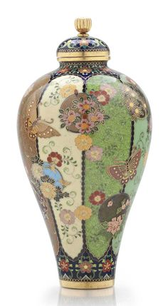 A cloisonné enamel jar and cover  MEIJI PERIOD (LATE 19TH CENTURY), SIGNED KYOTO NAMIKAWA (WORKSHOP OF NAMIKAWA YASUYUKI; 1845-1927)