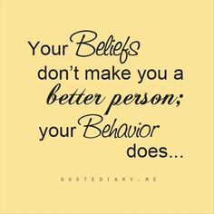 Behavior vs Beliefs