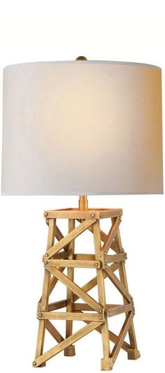 Visual Comfort Table Lamp - Derrick Tower Bedside