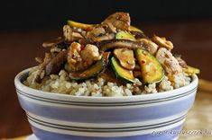 You searched for zucchini - Cookin Canuck Rice Bowls, Mushroom Recipes, Kung Pao Chicken, Zucchini, Paleo, Stuffed Mushrooms, Wok, Healthy Recipes, Ethnic Recipes