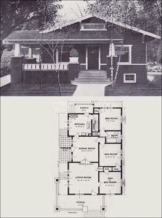 1923 Standard Homes Company   The Mandel ~~ A Very Basic Bungalow Floor Plan ,