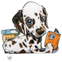 """""""Favorite Things"""" Pet Caricature Portrait – JohnLaFree.com #petportrait #johnlafree"""