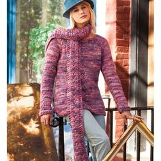 PARK SLOPE EYELET SWEATER AND SCARF