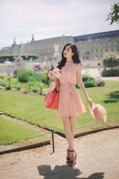 milkcocoa(MT) F/W daily 2017 feminine& classy look - Her Crochet Ulzzang Fashion, Asian Fashion, Fashion Beauty, Girl Fashion, Fashion Dresses, Womens Fashion, Classy Fashion, Romantic Outfit, How To Look Classy