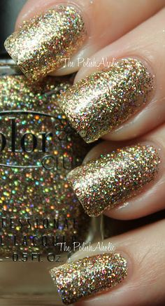 i soo want this! hope they ship to hawaii! Color Club GIngerbread - gold holo glitter