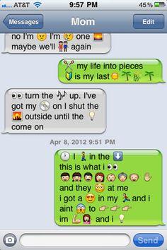 funny parent text lyrics