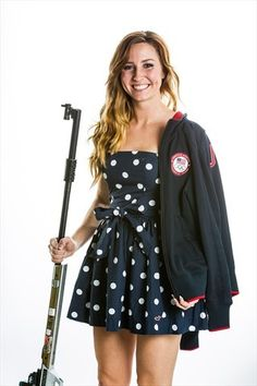 Model Olympian: Amanda Furrer - Shooting Slideshows | She calls herself a girl of God, guns and glitter. Here's a look at Spokane's Amanda Furrer, who will compete in 3-Position Rifle at the Olympics.  (Photo: Daniel Shirey) #NBCOlympics