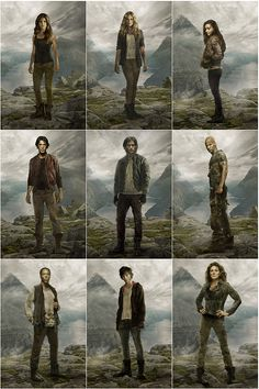 The 100 season 2 outfits || they all look so normal but then Abby was like BOOM!!