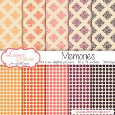Free digital paper pack Memories Set by LianaScrap.deviantart.com on @deviantART